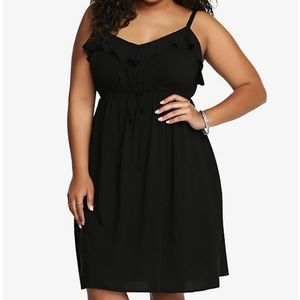 Torrid Black Challis Dress